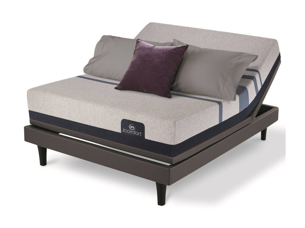 Serta iComfort Blue 300 FirmDiv King Firm Gel Memory Foam Adj Set
