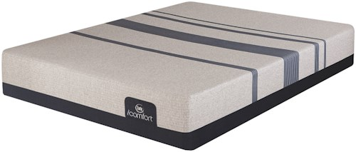 Serta iComfort Blue 300 Firm Twin Extra Long Firm Gel Memory Foam Mattress and MC II Adjustable Foundation