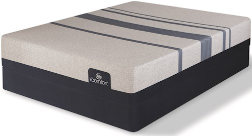 Serta iComfort Blue 500 Plush Full Mattress and Low Profile Foundation
