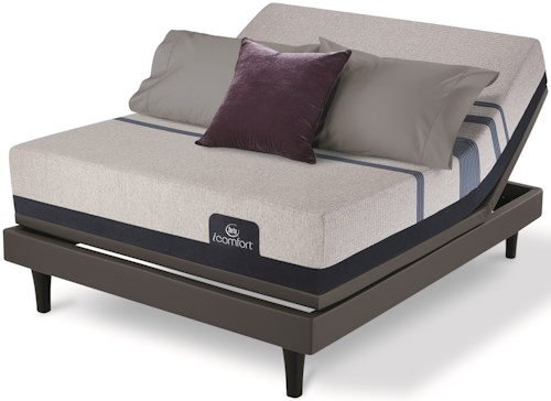 Serta iComfort Blue 500 Plush Full Plush Gel Memory Foam Mattress and MP III Adjustable Foundation
