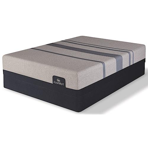 Serta iComfort Blue Max 1000 Cushion Firm Twin Extra Long Cushion Firm Gel Memory Foam Mattress and 9