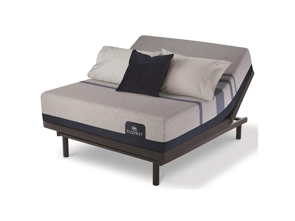 Serta iComfort Blue Max 1000 Cushion FirmCal King Cushion Firm Memory Foam Adj Set
