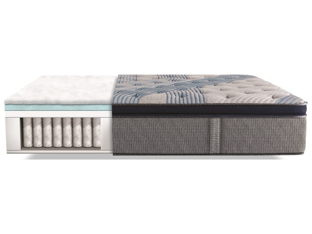 Serta iComfort Hybrid Blue Fusion 1000 Lux Firm PTCal King Luxury Firm PT Hybrid Mattress Set