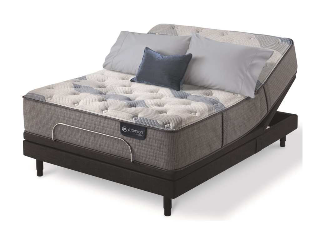 Serta iComfort Hybrid Blue Fusion 200 PlushQueen Plush Hybrid Adjustable Set