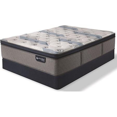Twin Plush Pillow Top Hybrid Mattress Set
