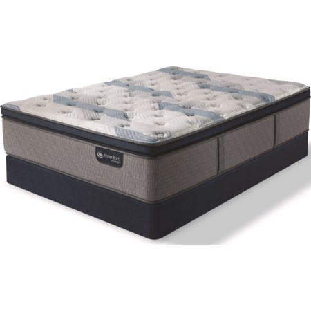 Queen Plush Pillow Top Hybrid Low Pro Set