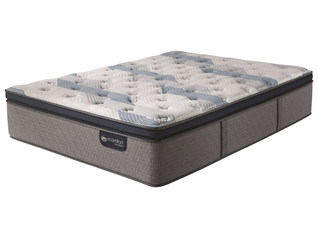 Serta iComfort Hybrid Blue Fusion 300 Plush PTCal King Plush Pillow Top Hybrid Mattress