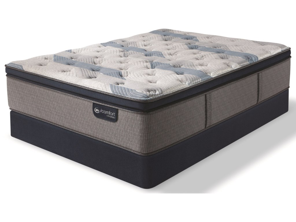 Serta iComfort Hybrid Blue Fusion 300 Plush PTTwin XL Plush Pillow Top Hybrid Mattress Set