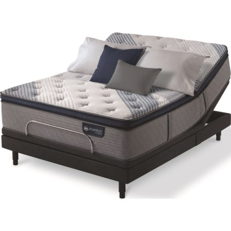 Queen Plush Pillow Top Hybrid Adj Set