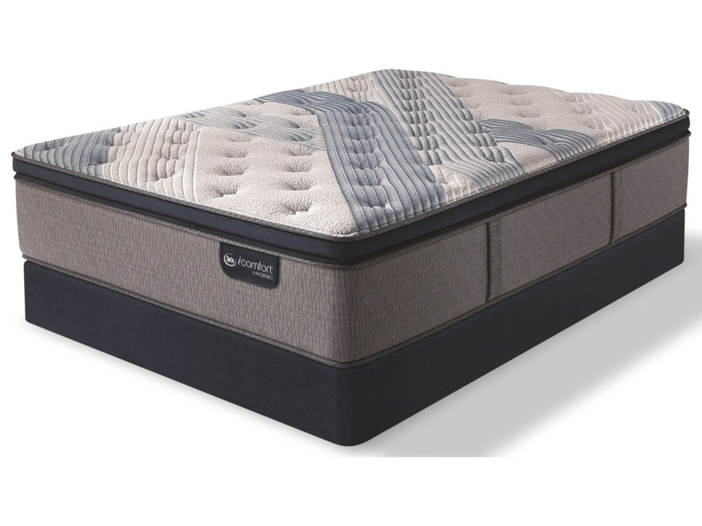 Serta iComfort Hybrid Blue Fusion 4000 Plush PTFull Plush Pillow Top Hybrid Mattress Set