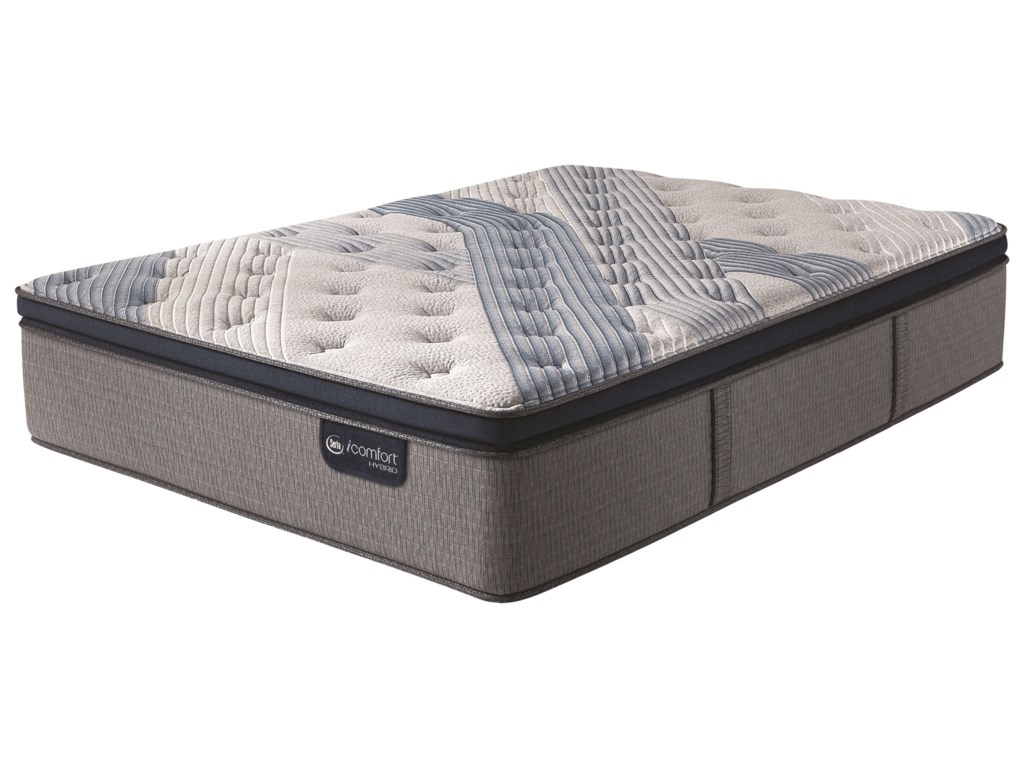 Serta iComfort Hybrid Blue Fusion 4000 Plush PTDivided King Plush Pillow Top Hybrid Adj Set