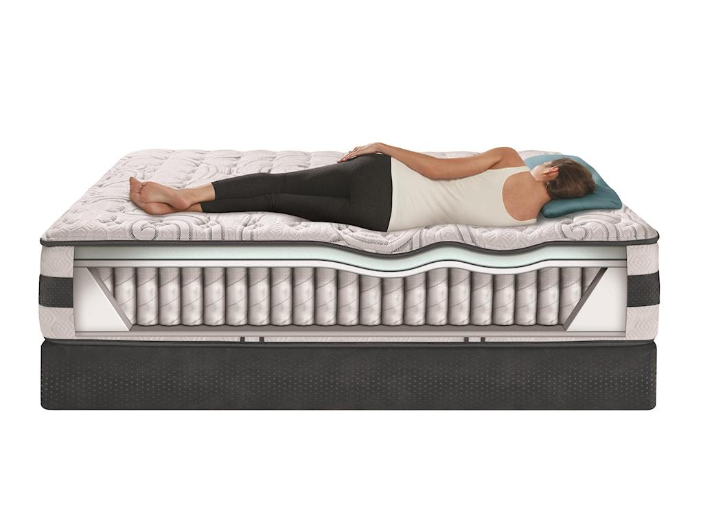 Serta iComfort Hybrid ExpertiseQueen Firm Hybrid Quilted Mattress Set, LP
