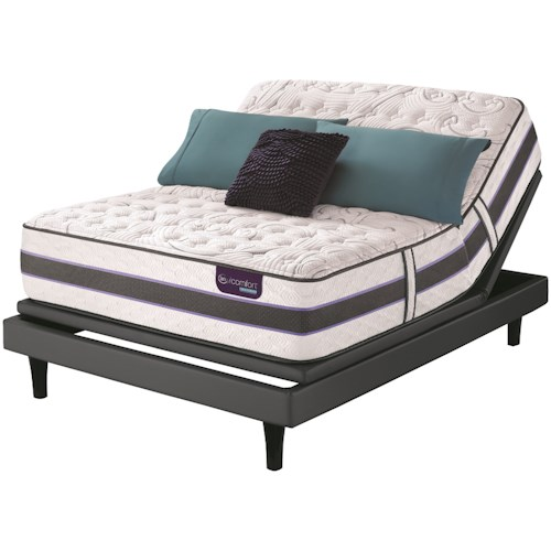 Serta iComfort Hybrid SmartSupport HB300Q Cal King SmartSupport? Cushion Firm Mattress and Pivot iC Adjustable Foundation