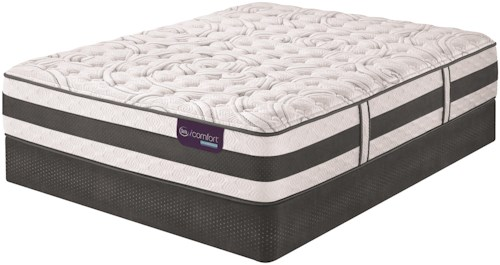 Serta iComfort Hybrid Recognition Queen Extra Firm Hybrid Quilted Mattress and Low Profile StabL-Base Foundation