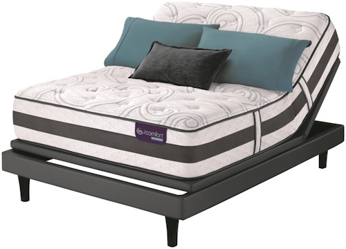Serta iComfort Hybrid Recognition Twin Extra Long Plush Hybrid Quilted Mattress and Motion Perfect III Adjustable Base