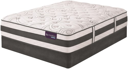 Serta iComfort Hybrid Recognition Cal King Plush Hybrid Quilted Mattress and StabL-Base Foundation