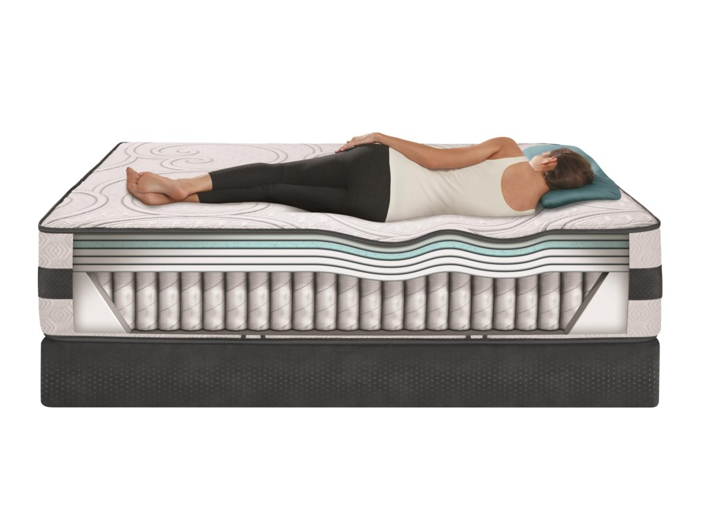 Serta iComfort Hybrid VisionaireFull Firm Hybrid Mattress Set