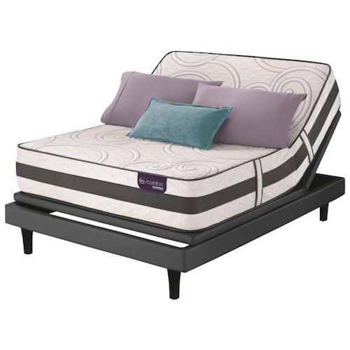 Serta iComfort Hybrid Visionaire Queen Firm Hybrid Smooth Top Mattress and Motion Perfect III Adjustable Base