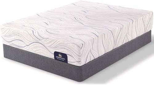 Serta Perfect Sleeper Carriage Hill Plush Twin Mattress and Low Profile Foundation