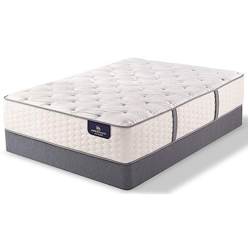 Serta PS Devron Luxury Firm Queen Luxury Firm Premium Pocketed Coil Mattress and 9