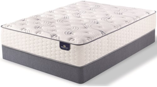 Serta PS Elkins Plush Twin Plush Pocketed Coil Mattress and 9