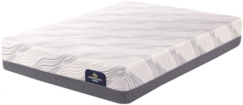 Serta PS Hybrid Alderman Plush King Plush Hybrid Mattress and Motion Essentials III Divided King Adjustable Base