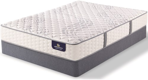 Serta PS Linden Pond Firm Twin Firm Premium Pocketed Coil Mattress and Motion Plus Adjustable Foundation