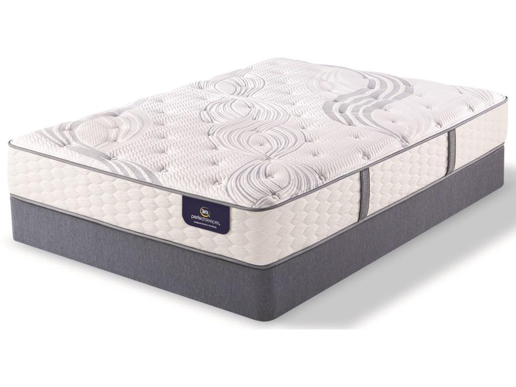 Serta AnnapolisKing Plush Pocketed Coil Mattress Set, LP