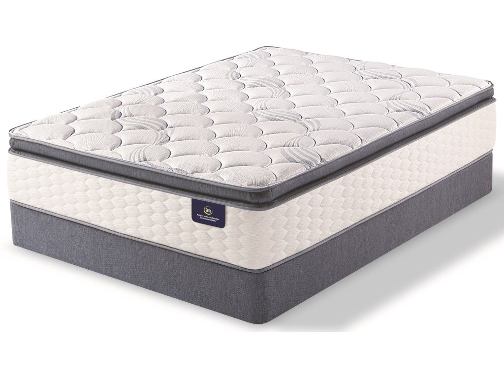 Serta Special Edition II Pillow Top FirmKing Pocketed Coil Mattress Set