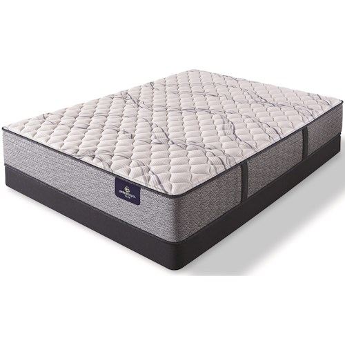 Serta Trelleburg II XF Queen Extra Firm Pocketed Coil Mattress and 5