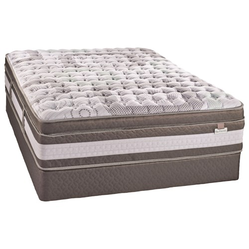 Serta Canada Artistry II Firm ET Queen Euro Top Firm Hybrid Mattress and iSeries Boxspring