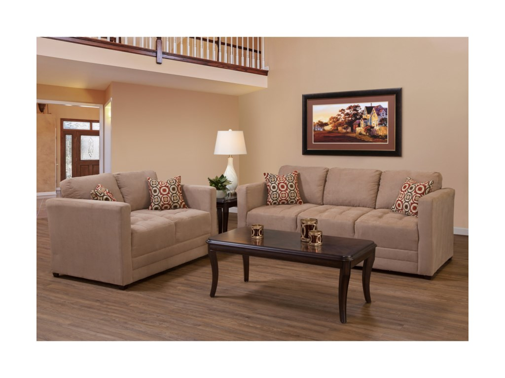 Serta Upholstery by Hughes Furniture 1085Loveseat