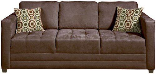 Serta Upholstery 1085 Contemporary Sofa with Tufted Seats