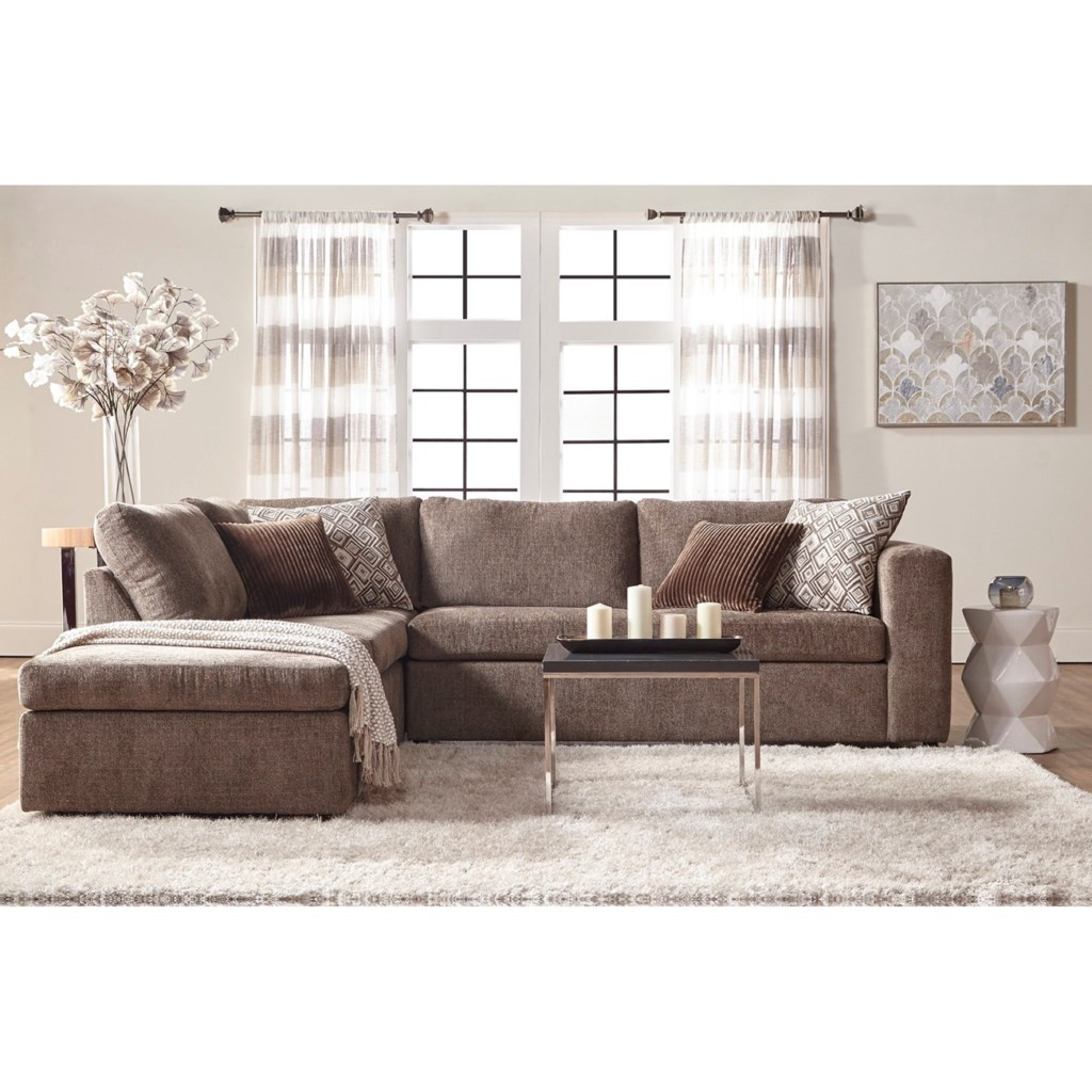 sectional couch with chaise Serta Upholstery Angora Casual Contemporary Sectional Sofa with  sectional couch with chaise