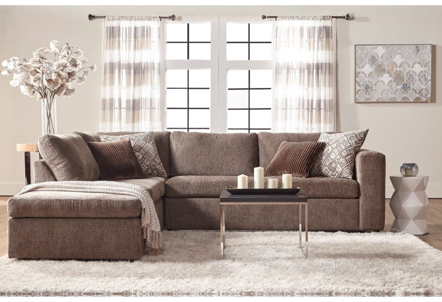 Casual Contemporary Sectional Sofa