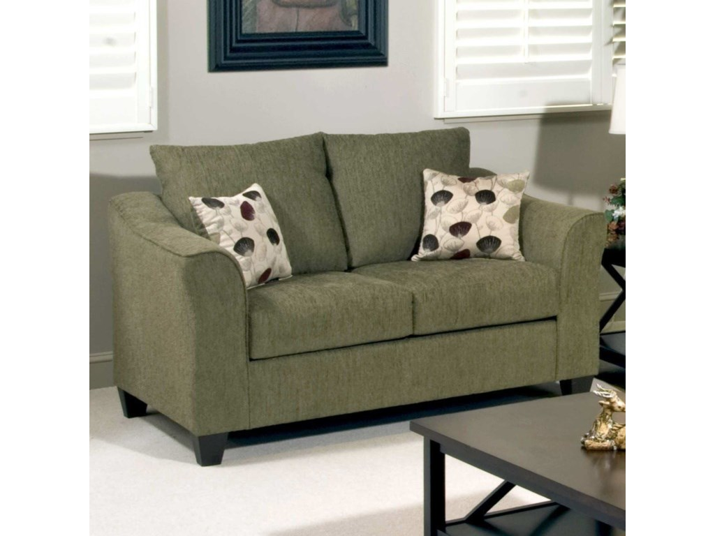 Serta Upholstery by Hughes Furniture 1225Casual Upholstered Love Seat
