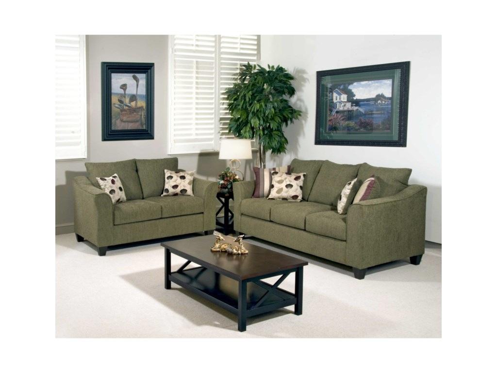 Serta Upholstery by Hughes Furniture 1225Casual Upholstered Sofa
