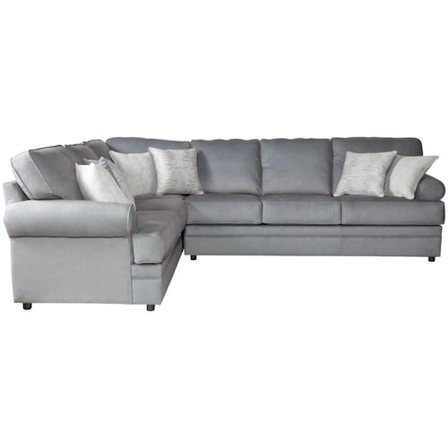 Serta Upholstery Clapton 2PC Sectional Sofa w/ Rolled Arms