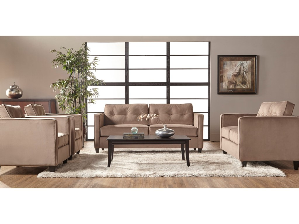 Serta Upholstery by Hughes Furniture 1365Stationary Sofa