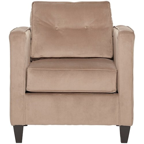 Serta Upholstery 1365 Contemporary Upholstered Chair with Tufted Seatback