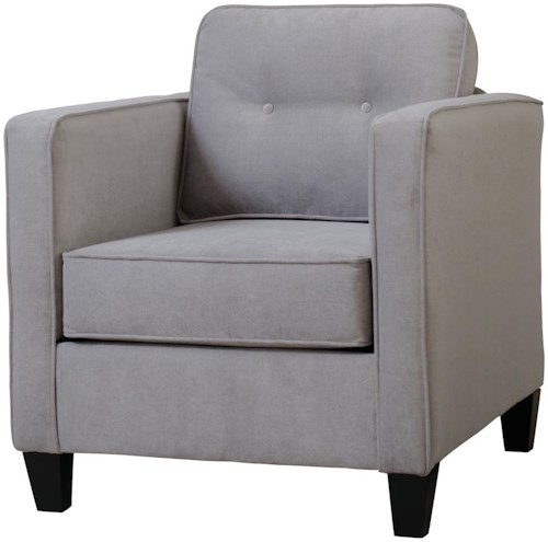 Serta Upholstery Mali Chair with Casual Contemporary Style