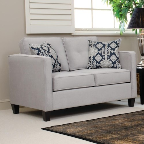 Serta Upholstery by Hughes Furniture 1375 Loveseat with Casual Contemporary Style