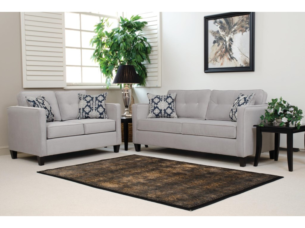 sofa smoke brings collection effortlessly furniture savanna living room pin gray livings serta