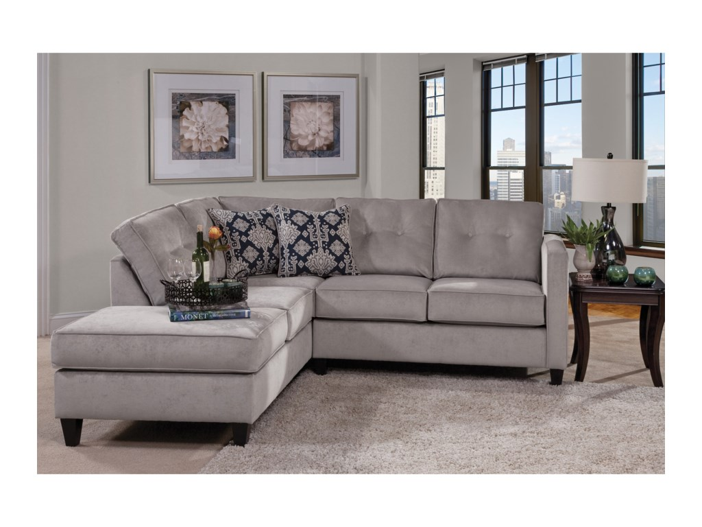 Serta Upholstery by Hughes Furniture 1375Contemporary Sectional
