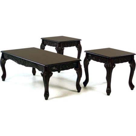 Cocktail Table & 2 End Table Set