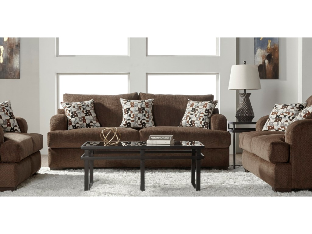 Serta Upholstery by Hughes Furniture 14100Stationary Living Room Group