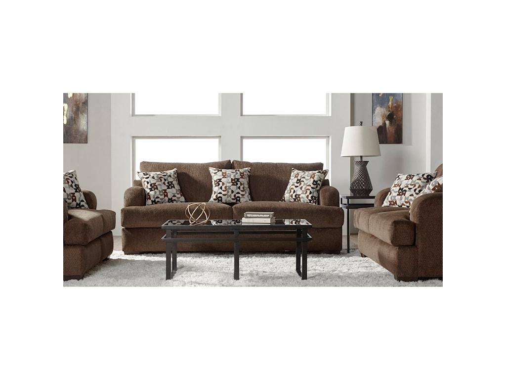 Serta Upholstery 14100Stationary Living Room Group