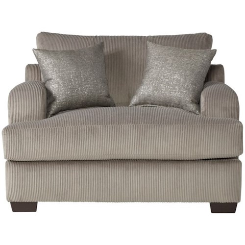 Serta Upholstery 14100 Transitional Cuddle Chair with Block Feet