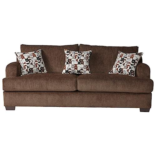 Serta Upholstery 14100 Transitional Sofa with Block Feet
