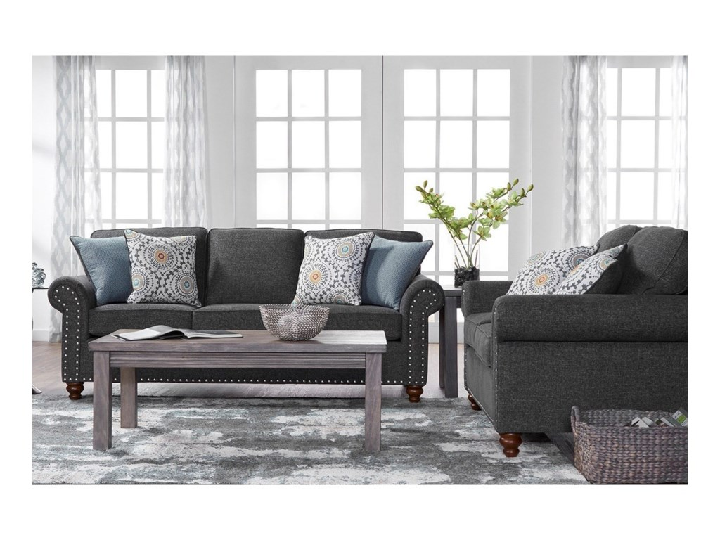 Serta Upholstery by Hughes Furniture 17655Traditional Sofa